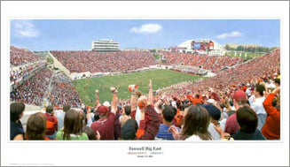 "Virginia Tech Football ""Farewell Big East"" Lane Stadium Panoramic Poster - SG 2003"