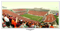 "Virginia Tech Football ""Maroon and Orange"" (2005) Lane Stadium Panoramic Poster Print"