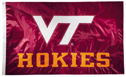 Virginia Tech Hokies Official NCAA Premium Nylon Applique 3'x5' Flag - BSI Products Inc.
