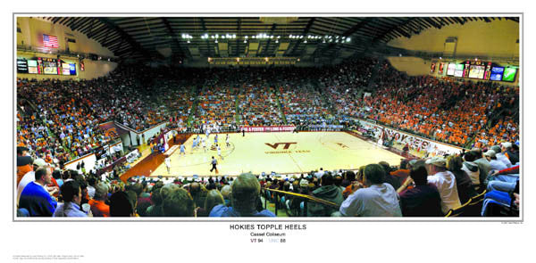 "Virginia Tech Basketball ""Hokies Topple Heels"" Panoramic Poster Print - SPI 2007"