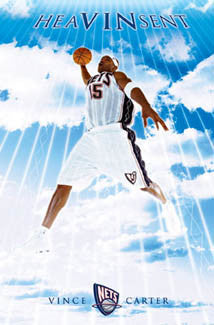 "Vince Carter ""Heaven Sent"" New Jersey Nets Poster - Costacos 2005"