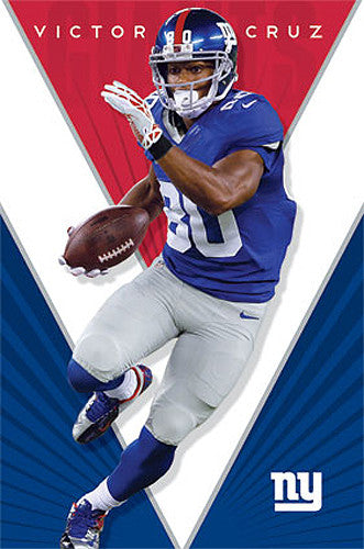 "Victor Cruz ""Superstar"" New York Giants Official NFL Poster - Costacos 2014"