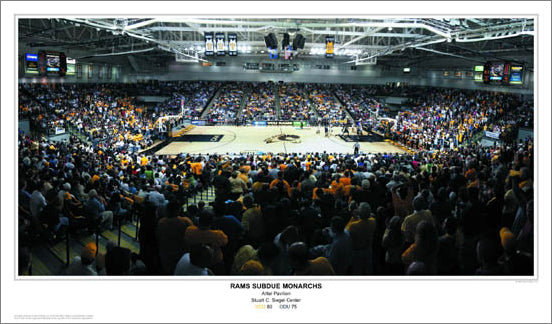 "VCU Rams Basketball ""Rams Subdue Monarchs"" Alltel Pavilion Game Night Poster Print - SPI 2007"