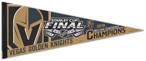 Vegas Golden Knights 2018 NHL Western Conference Champions Premium Felt Collector's Pennant - Wincraft