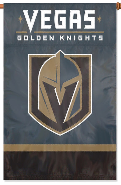 Vegas Golden Knights Official HL Hockey Premium Applique Team BANNER Flag - Party Animal