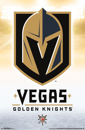 Las Vegas Golden Knights NHL Hockey Team Official Team Logo Poster - Trends International