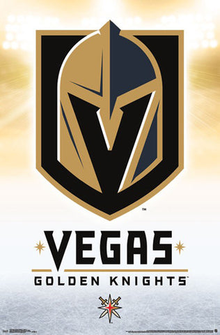 Vegas Golden Knights NHL Hockey Team Official Team Logo Poster - Trends International