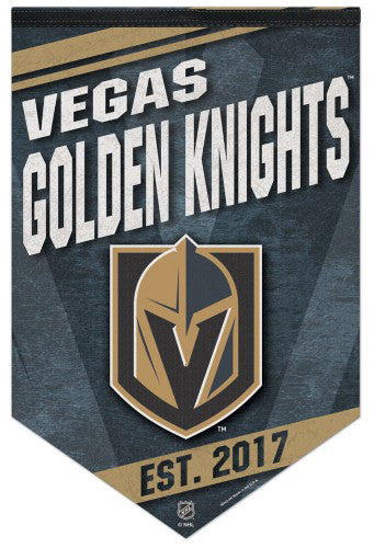 "Las Vegas Golden Knights ""Est. 2017"" Official NHL Hockey Team Premium Felt Wall Banner - Wincraft"