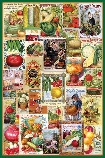 Vintage Seed Catalog Covers Vegetable Farming Posters Collage (26 Reproductions) Poster - Eurographics Inc.