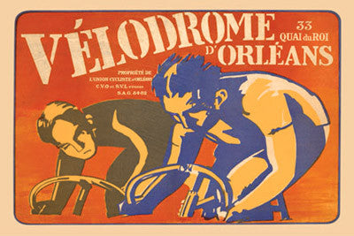 Velodrome d'Orleans Vintage Cycling Poster Reprint - The Horton Collection