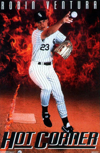 "Robin Ventura ""Hot Corner"" Chicago White Sox Poster - Costacos Brothers 1992"