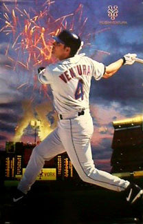 "Robin Ventura ""V-Day"" New York Mets Poster - Costacos 1999"