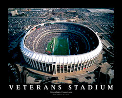 Philadelphia Eagles Veterans Stadium Gameday Classic Poster Print - Aerial Views