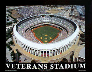 Philadelphia Phillies Veterans Stadium Classic Gameday Poster Print - Aerial Views 2003