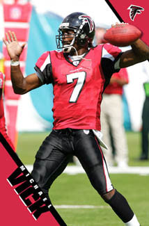 "Michael Vick ""Action"" Atlanta Falcons NFL Football Poster - Costacos 2006"