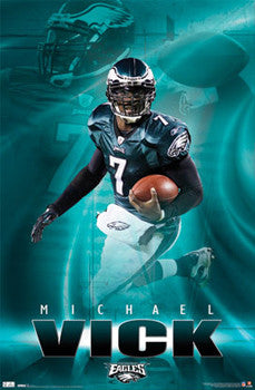 "Michael Vick ""Superstar"" Philadelphia Eagles Poster - Costacos 2011"