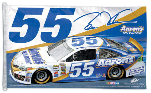 Brian Vickers NASCAR Aaron's #55 Official HUGE 3'x5' Commemorative Flag - Wincraft