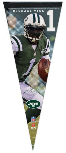 "Michael Vick ""Signature Series"" New York Jets Premium Felt Collector's Pennant - Wincraft"