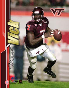 "Michael Vick ""Hokie Classic"" (2000) Virginia Tech Football Premium Poster Print - Photofile Inc."