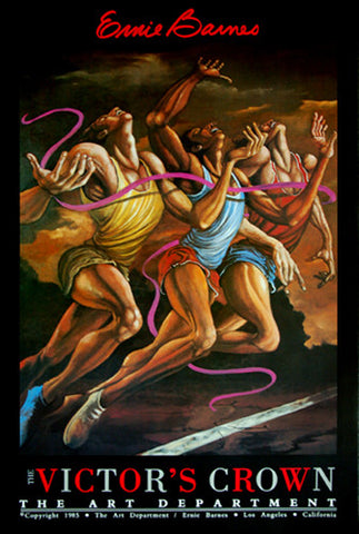 The Victor's Crown (First, Second, Third) Running Art Poster by Ernie Barnes