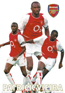 "Patrick Vieira ""Bright Star"" Arsenal FC Poster - GB 2003"