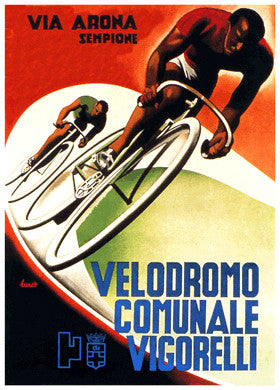Velodromo Comunale Vigorelli (1935) Vintage Cycling Poster Reprint - The Horton Collection