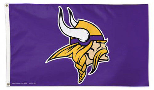 Minnesota Vikings Official NFL Football DELUXE-EDITION 3'x5' Team Flag - Wincraft Inc.