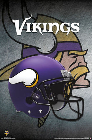 Minnesota Vikings Official NFL Football Team Helmet Logo Poster - Trends International