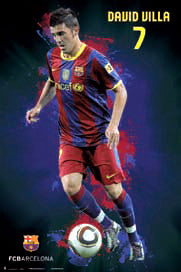 "David Villa ""SuperAction"" FC Barcelona Poster - G.E. (Spain) 2010/11"