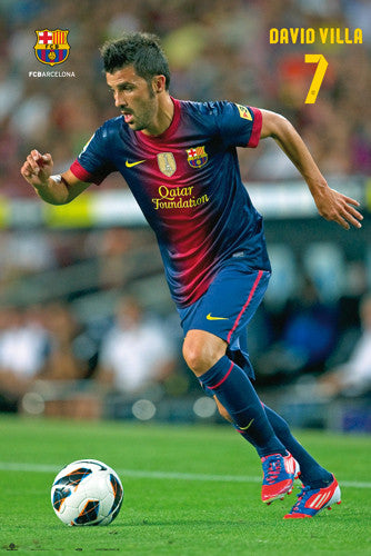"David Villa ""Superstar"" FC Barcelona Poster (2012/13) - G.E. (Spain)"