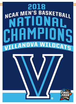 Villanova Wildcats 2018 NCAA Basketball Champions Official Wall BANNER Flag - Wincraft Inc.