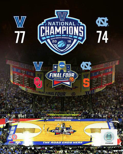 Villanova Wildcats 2016 NCAA National Basketball Champions Premium Poster Print - Photofile 16x20