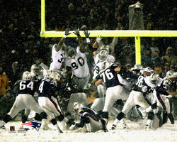 Snow Bowl 2002 (Adam Vinatieri's Kick) New England Patriots Premium Print - Photofile Inc.