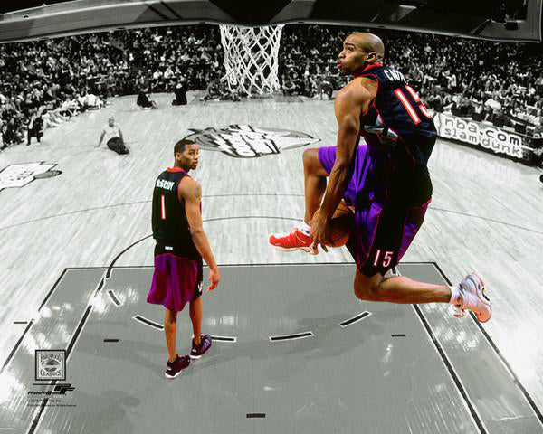 "Vince Carter ""Slam Dunk Legend"" Toronto Raptors 2000 Spotlight Edition Premium Poster - Photofile Inc."