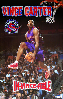 "Vince Carter ""In-Vince-Able"" Toronto Raptors All-Star Slam-Dunk Poster - Starline 2000"