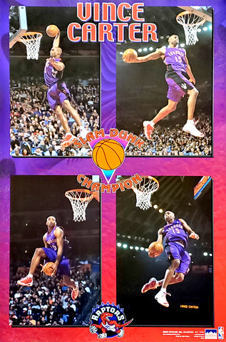 Vince Carter 2000 NBA All-Star Slam Dunk Champion Toronto Raptors Poster - Starline Inc.