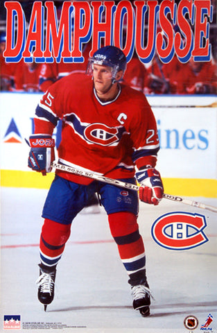 "Vincent Damphousse ""Captain Canadien"" Montreal Canadiens NHL Action Poster - Starline 1997"