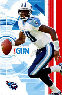 "Vince Young ""Young Gun"" Tennessee Titans Official NFL Wall POSTER - Costacos 2006"