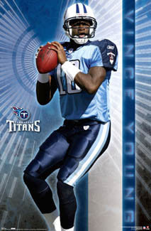 "Vince Young ""Shining Star"" Tennessee Titans Poster - Costacos 2007"