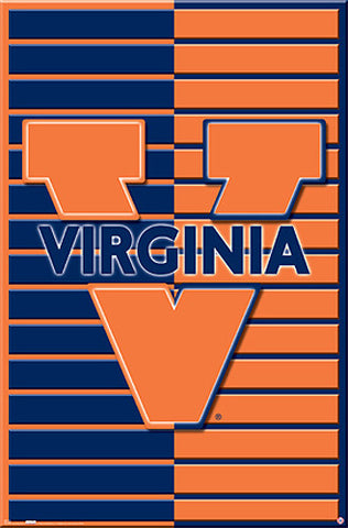 University of Virginia Official NCAA Logo Poster - Costacos Sports