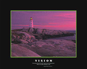 "Lighthouse ""Vision"" Motivational Poster (Emerson Quote) - Eurographics 16x20"