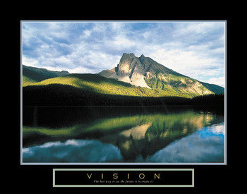 "Mountain Reflection ""Vision"" Motivational Poster - Front Line"