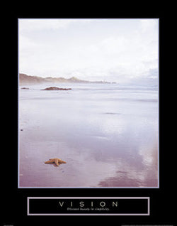 "Beach at Low Tide ""Vision"" Motivational Poster - Front Line"