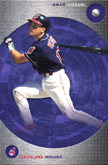 "Omar Vizquel ""In The Zone"" Cleveland Indians Poster - Costacos 2002"