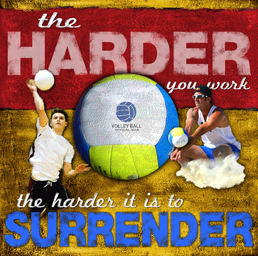 "Volleyball ""Work Harder"" Motivational Print - Image Source"