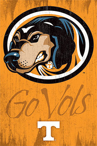"Tennessee Volunteers ""Go Vols"" Official NCAA Team Logo Poster - Costacos Sports"