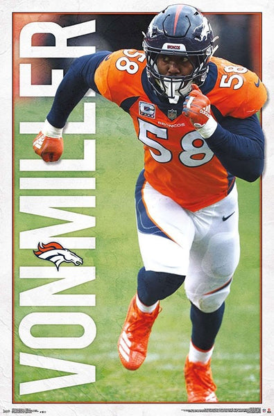 "Von Miller ""Predator"" Denver Broncos Official NFL Football Poster - Trends International 2019"