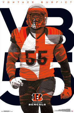 "Vontaze Burfict ""Passion"" Cincinnati Bengals NFL Action Wall Poster - Trends International"