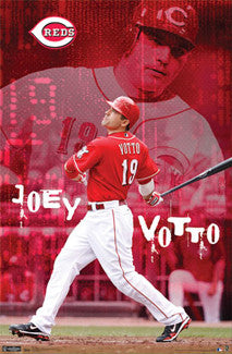 "Joey Votto ""Superstar"" Cincinnati Reds Poster - Costacos 2011"