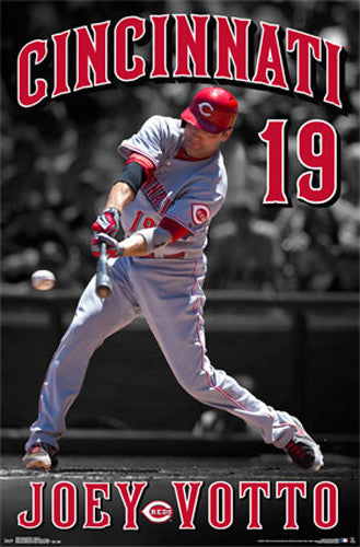 "Joey Votto ""Masher"" Cincinnati Reds MLB Baseball Action Poster - Trends International 2015"